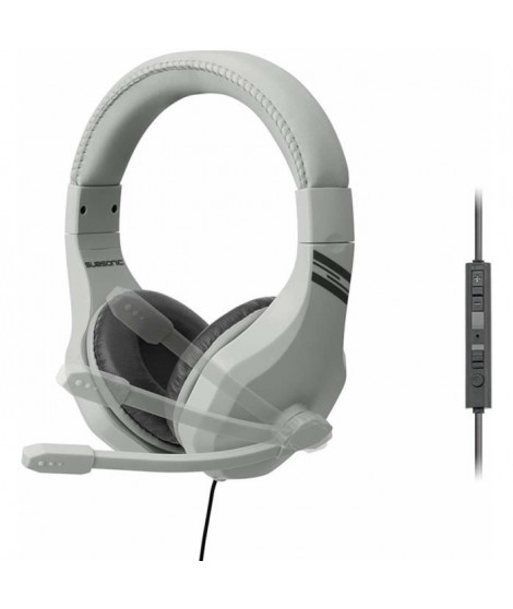 Casque-micro Subsonic gris pour PS4 , Xbox One , Switch et PC