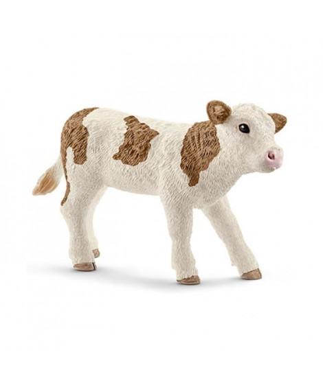 Schleich Figurine 13802 - Animal de la ferme - Veau Simmental