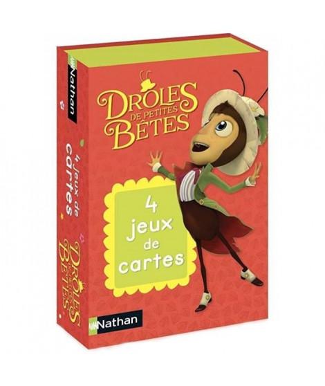 NATHAN - 4 Jeux de Cartes Drôles de Petites Betes - Jeu de Cartes