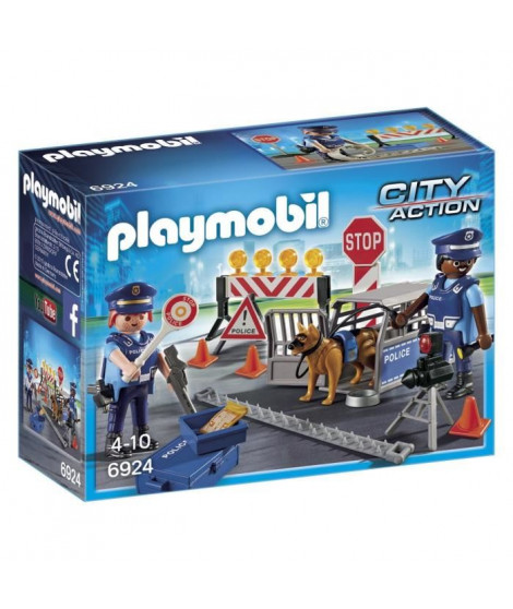 PLAYMOBIL 6924 - City Action - Barrage de Police