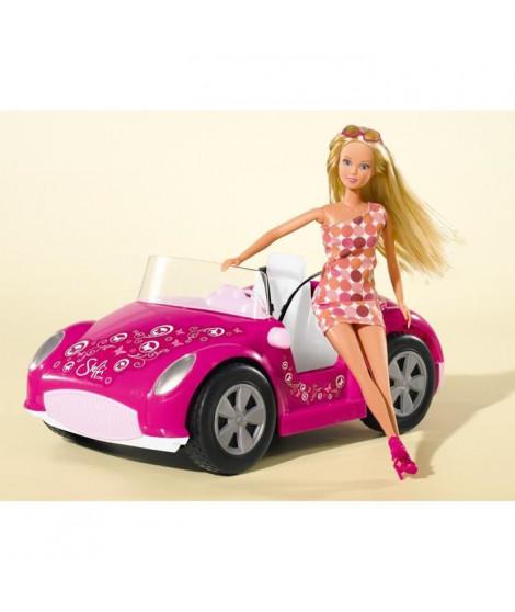 SIMBA Steffi Love Poupée Enfant -Voiture Cabriolet