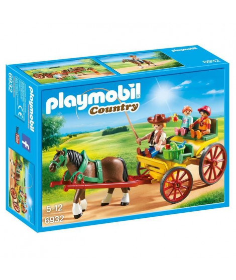 PLAYMOBIL 6932 - Country - Caleche avec Attelage