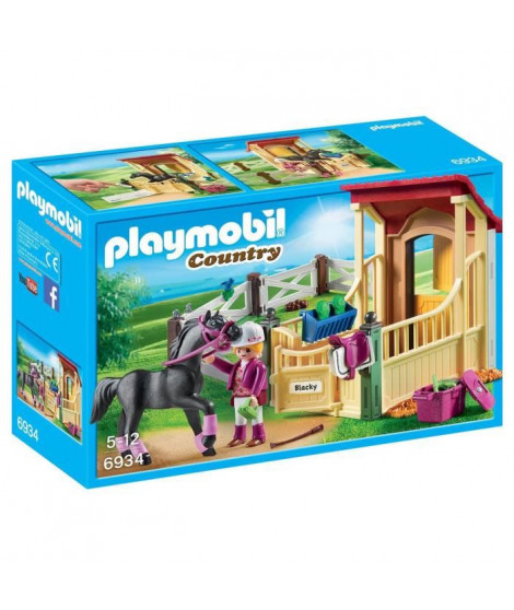 PLAYMOBIL 6934 - Country - Box avec Cavaliere et Cheval Pur-Sang Arabe