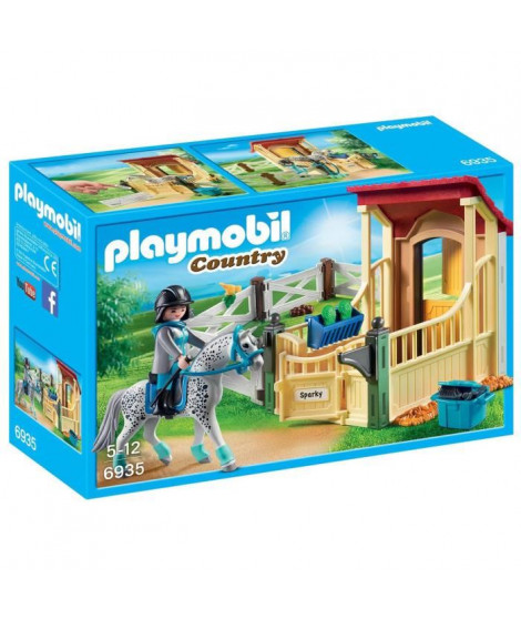 PLAYMOBIL 6935 - Country - Box avec Cavaliere et Cheval Appaloosa