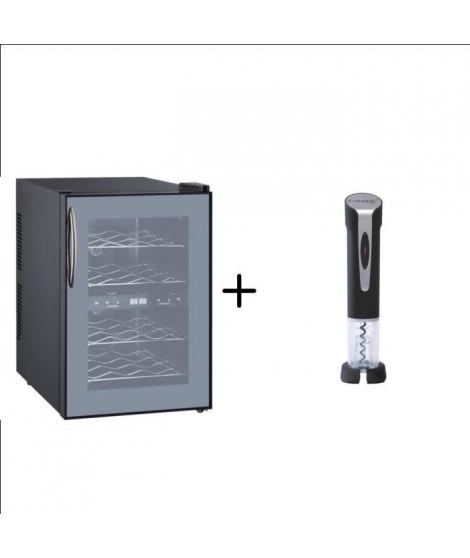 CLIMADIFF DUOVINO/1 - Cave de chambrage thermoélectrique  - 12 bouteilles + CLIMADIFF TB5029 -Tire-bouchon électrique recharg…