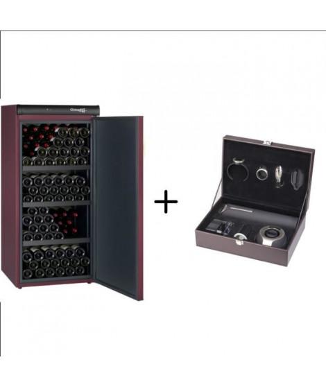 CLIMADIFF CVP168 - Cave a vin de vieillissement - 168 bouteilles + CLIMADIFF PACK6 - Coffret du sommelier-Pack 6 accessoires