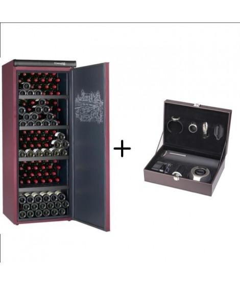 CLIMADIFF CVP215  - Cave a vin de vieillissement - 216 bouteilles + CLIMADIFF PACK6 - Coffret du sommelier - Pack 6 accessoires