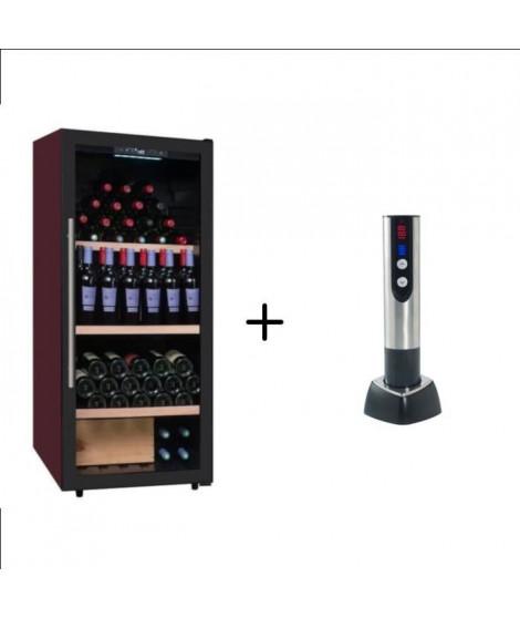 CLIMADIFF CDV159 - Cave a vin polyvalente - 160 bouteilles + CLIMADIFF TB5035 tire bouchon électrique 2 en 1