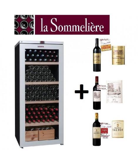 PACK Cave a vin + vins rouges / LA SOMMELIERE : VIP 265V Cave a vin de vieillissement + CANTBROWN14 + DUHART14 + TALBOT14