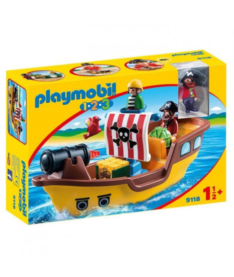 PLAYMOBIL 1.2.3. - 9118 - Bâteau de Pirates