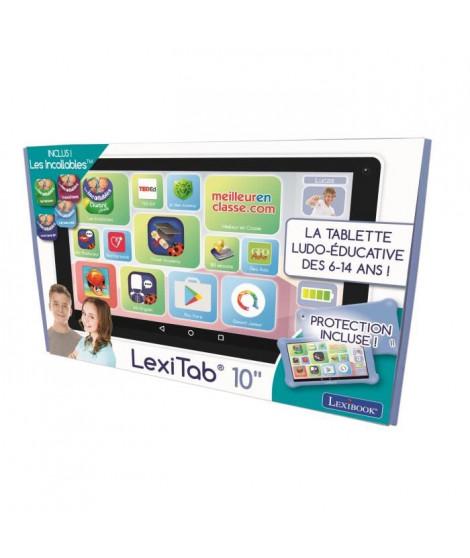 """LEXIBOOK - LexiTab 10"""" - Tablette enfant avec applications éducatives, jeux et contrôles parentaux - Pochette de protection i…"""