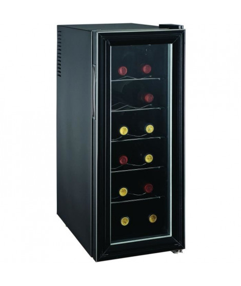 CAVISS- SP112CFM - Cave de chambrage - 12 bouteilles - Thermostat - Porte verre - Thermostat mécanique - Eclairage