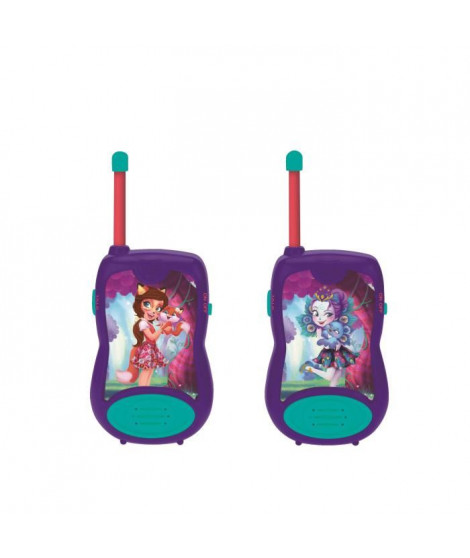 LEXIBOOK - ENCHANTIMALS - Paire de Talkies-Walkies Enfant - Portée 100m
