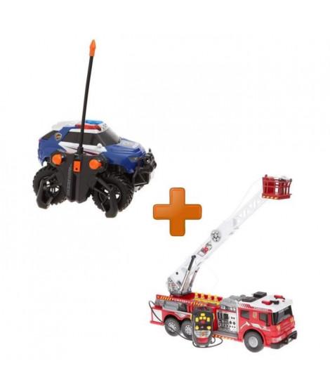 DICKIE TOYS Pack Camion De Pompier + Voiture de Police Radiocommandés