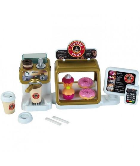 COFFEE SHOP - Bar a Café - Ecran Tactile et Lecteur de Cartes (6 Sons) - Ecoulement d'eau et Accessoires