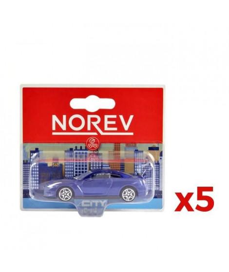 NOREV Pack 5 voitures miniature en métal (modele aléatoire)