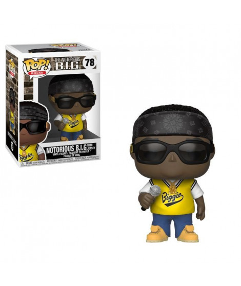 Figurine Funko Pop! Rocks: The Notorious B.I.G. avec son maillot