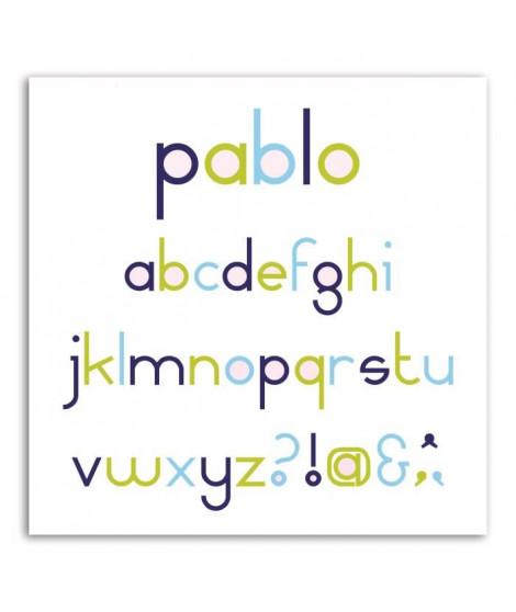 LES D'COS DE TOGA Pack de 8 Dies Alphabet Pablo