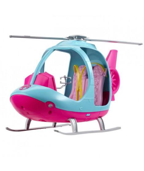 BARBIE - Barbie Hélicoptere - Véhicule de Poupée - Hélicoptere Rose & Bleu - Peut contenir 2 Poupées Barbie