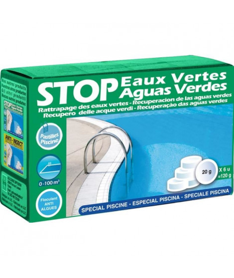 GRE Pastilles Stop eaux vertes - 120 g