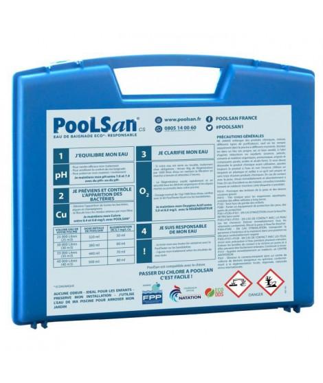 POOLSAN Kit complet de désinfection - 100% sans chlore - Pour piscines de 25 a 40 m³