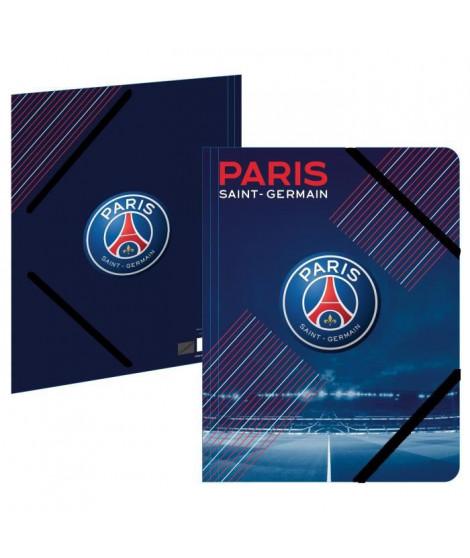 PARIS SG Chemise A4 193PSG108CHE - Carton - 3 rabats - Fermeture élastique - 24 x 32 cm