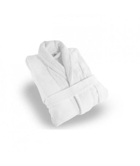 SOLEIL D'OCRE Peignoir éponge Velours - Taille XL - 100% Coton - Blanc