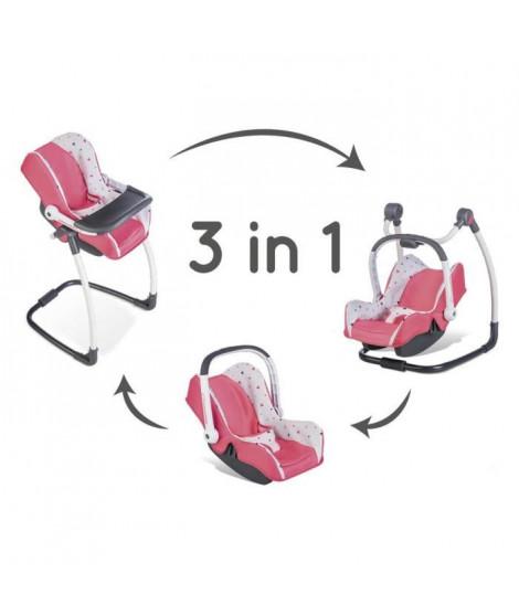 SMOBY Bébé Confort - Siege + Chaise Haute 3 en 1