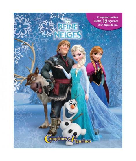 LA REINE DES NEIGES 12 figurines et un tapis de jeu - Livre cartonné de 10 pages - Editions Phidal