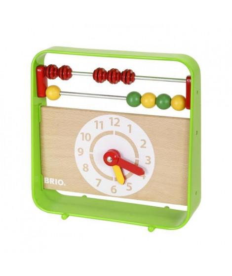 BRIO - 30447 - Boulier Avec Horloge - Jouet en bois