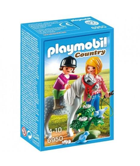 PLAYMOBIL 6950 - Country - Cavaliere avec Soigneur et Poney