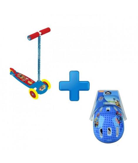 PAT'PATROUILLE Pack Trottinette 3 roues Flex + Casque avec Header Card Darpeje