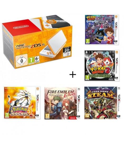 New 2DS XL + Fire Emblem Echoes + Yo-Kai Watch 2 : Spectres Psychiques + Esprits Farceurs + Pokémon Soleil + S.T.E.A.M.