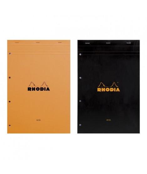 RHODIA - Bloc perforé - 21 x 31,8 - 80 pages Seyes - Papier Velin Surfin P.E.F.C 80G - 2 couleurs aléatoires