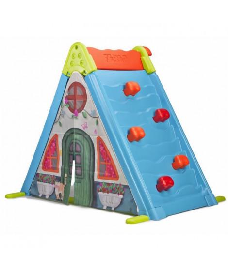 FEBER - Maison pour Enfant 3 en 1 : Mur, Tente et Tableau