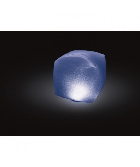 INTEX Lampe flottante Led cube gonflable - 16,5x16,5cm - Multicolore