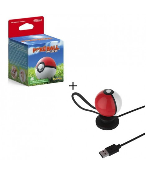 PokeBall Plus pour Pokemon Go + Stand de recharge USB pour Pokeball Switch