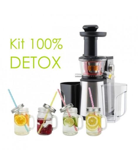 Pack Detox - Extracteur de jus + 4 Jars en verre