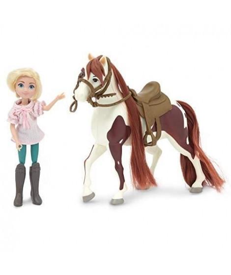 SPIRIT Figurine Cheval 18 cm et Poupée 12 cm - Abigaelle & Boomerang