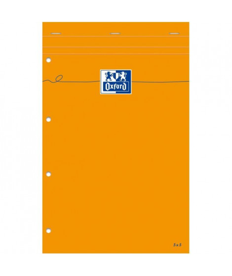 OXFORD Bloc-notes - Petits carreaux - 160 pages - 32 cm x 21 cm x 0,7 cm