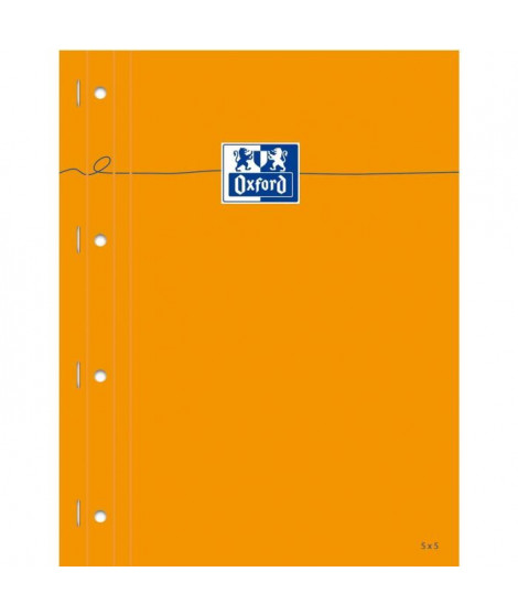 OXFORD Bloc-Notes - 29,7 cm x 23 cm x 0,9 cm - 160 pages - 80g - Orange