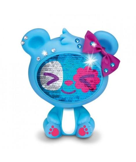 LES ZEQUINS Animal 14 cm avec sequins magiques - Ours bleu - Spark