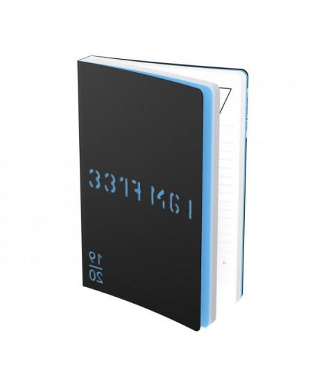 Joel Guenoun Agenda 400118841 - 12 x 17 cm - 1 jour par page - 352 P - Décor Noir et Bleu