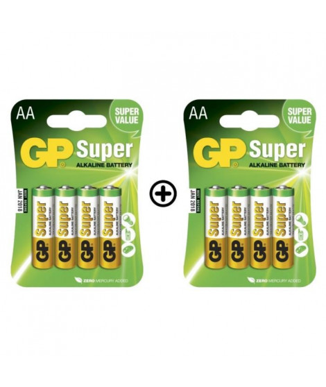 GP Batteries Lot de 8 Piles AA LR06