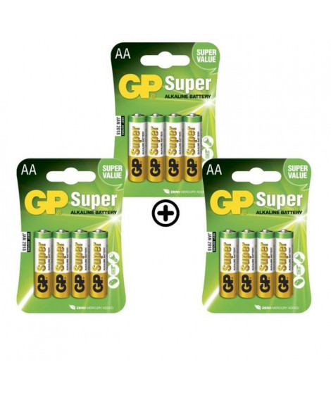GP Batteries - Lot de 12 Piles AA LR06