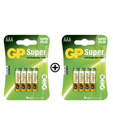 GP Batteries - Lot de 8 Piles AAA LR03