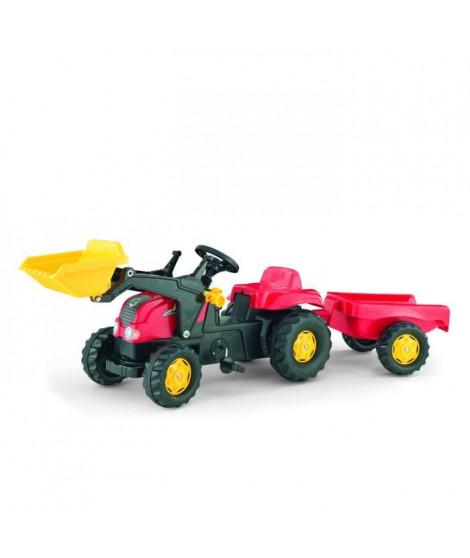 ROLLY TOYS Tracteur a pédales enfant et remorque Rolly Kid X rouge