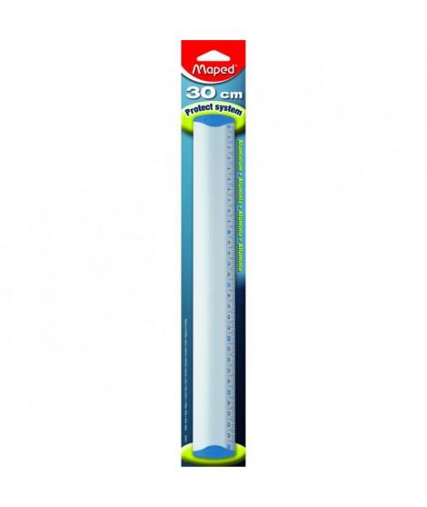MAPED Regle anti-dérapante Protect system - Aluminium anodisé - 30 cm