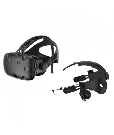 HTC VIVE Casque de réalité virtuelle + Serre-tete Audio Vive Premium + 2 mois d'abonnement a Viveport