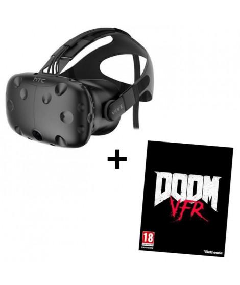 Pack Casque de réalité virtuelle HTC VIVE + Jeu PC Doom VFR
